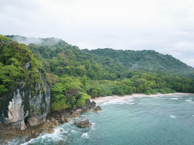 gorgeous coastline of Costa Rica