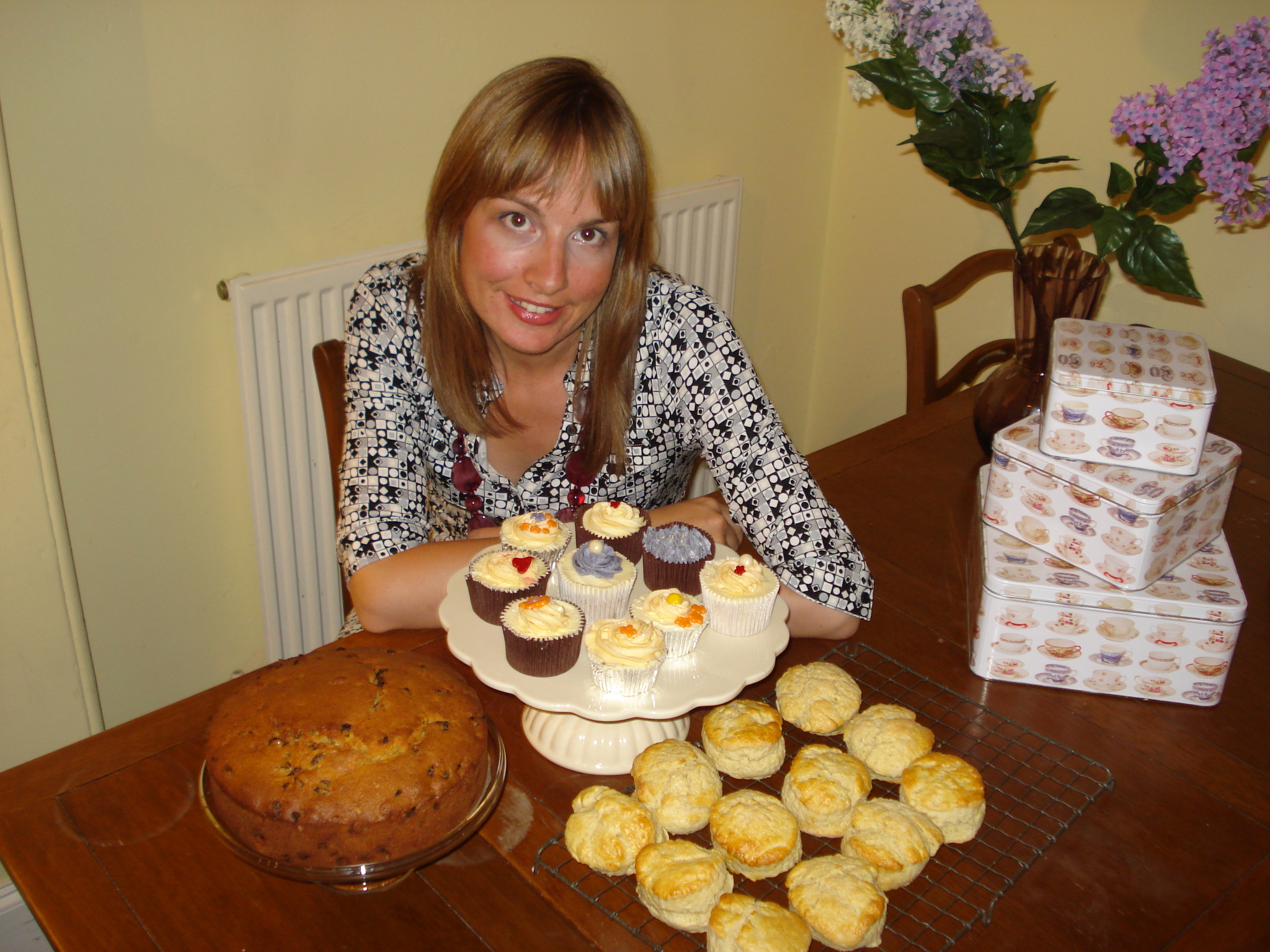 The Sultana cake, scones and carrot cupcakes