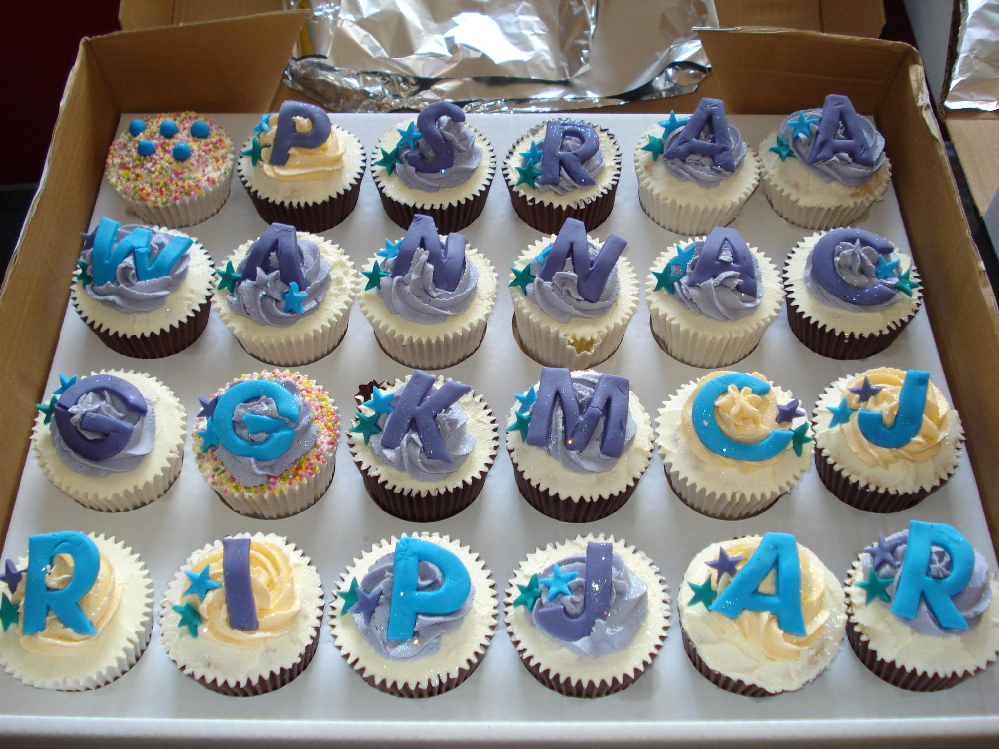 The boys cupcakes