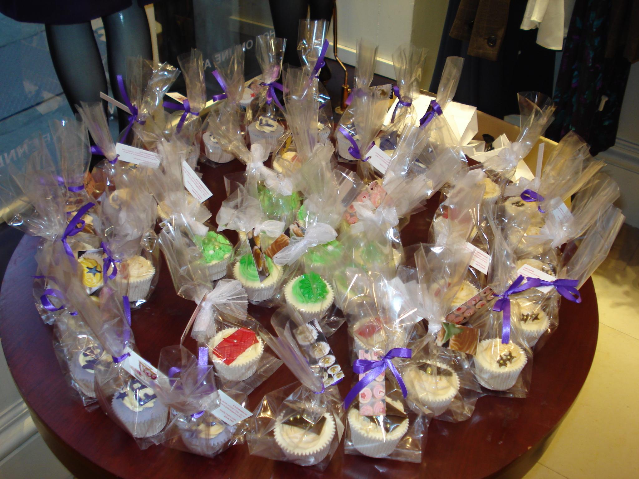 Fashion cupcakes at LK Bennett