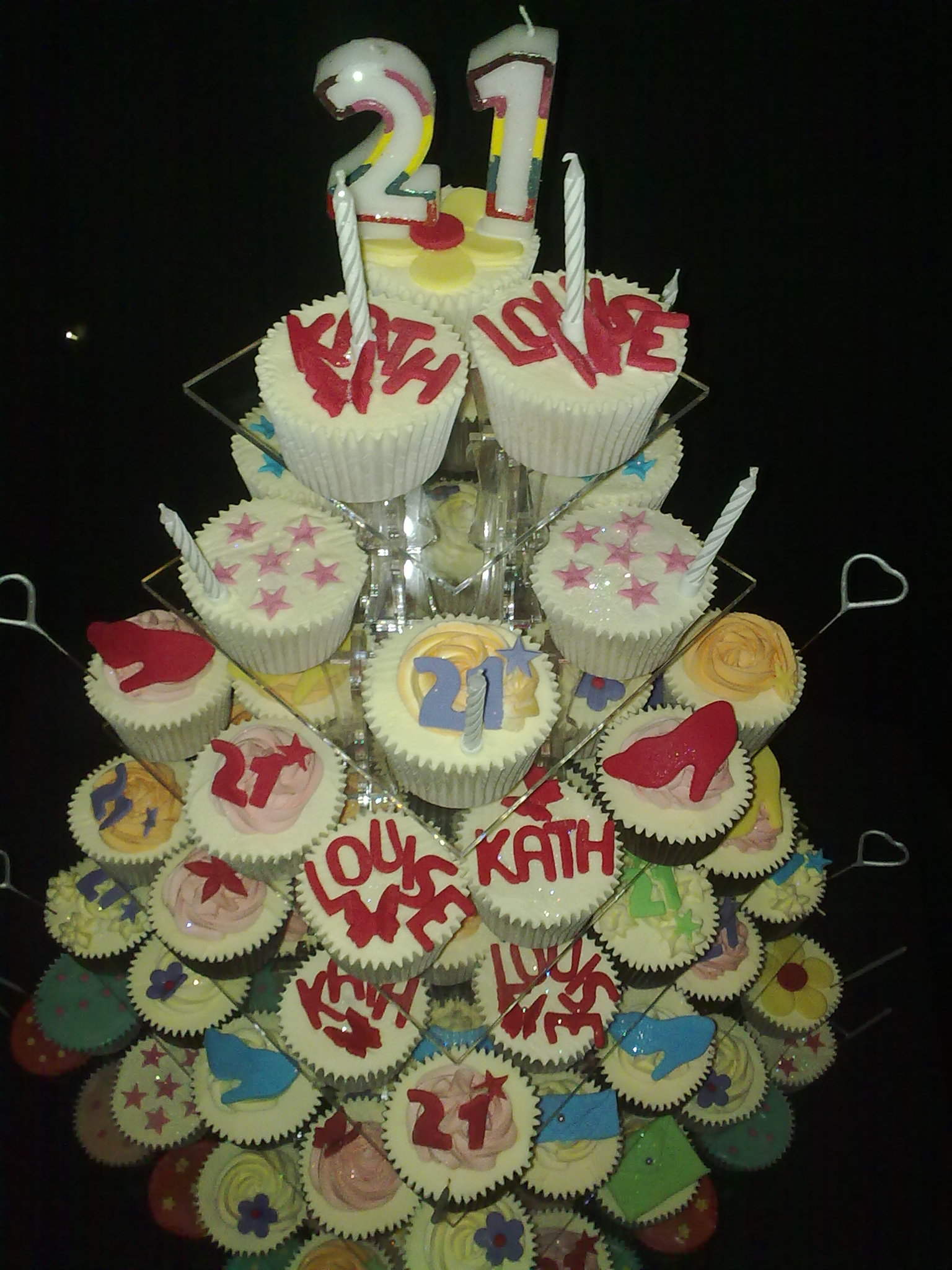 Cupcake tower from above