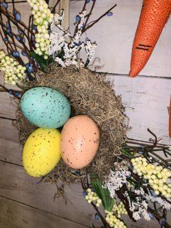 DIY Cute and Easy Easter Bunny Wreath