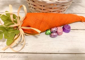 DIY 5 Minute Cute Candy Filled Carrot Goodie Bags