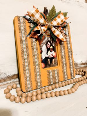 DIY Thrift Store Picture Frame Fall Upcycle