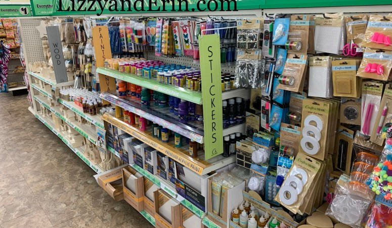 Dollar Trees Brand New Craft Section