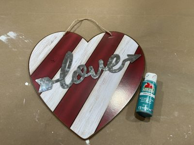 Dollar Tree Valentine's Sign Makeover