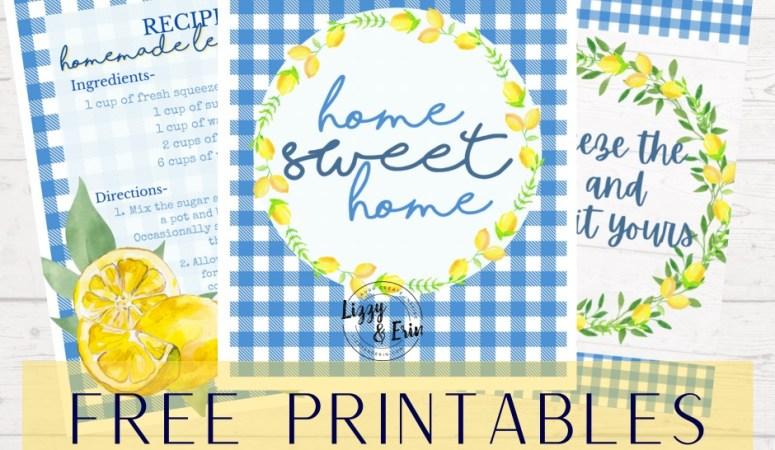 FREE Printable – Lemon Bundle