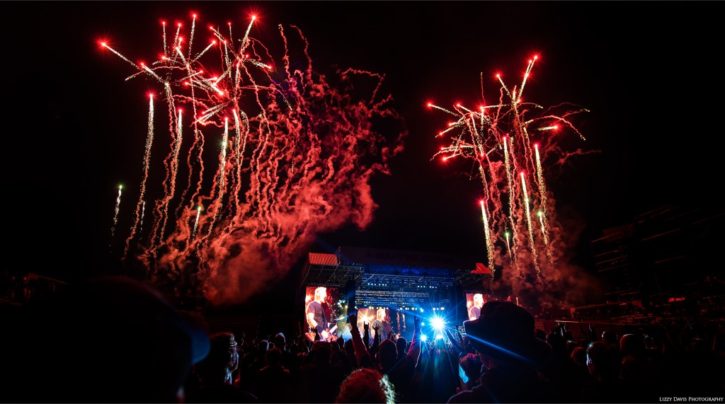 """Metallica - pictures of fireworks during """"One"""" at ROTR17. ©Lizzy Davis Photography"""