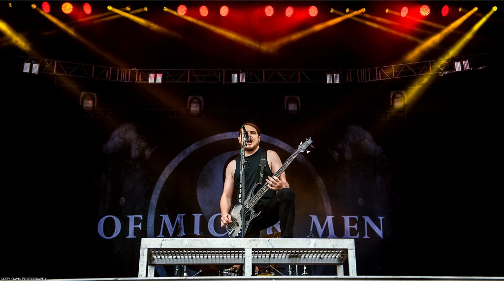 Bassist and vocalist Aaron Pauley. Of Mice & Men pictures by ©Lizzy Davis Photography.