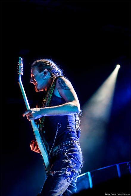 Guitarist Linde Lindstrom on Rock Allegiance tour 2013. Photos of HIM by ©Lizzy Davis Photography.