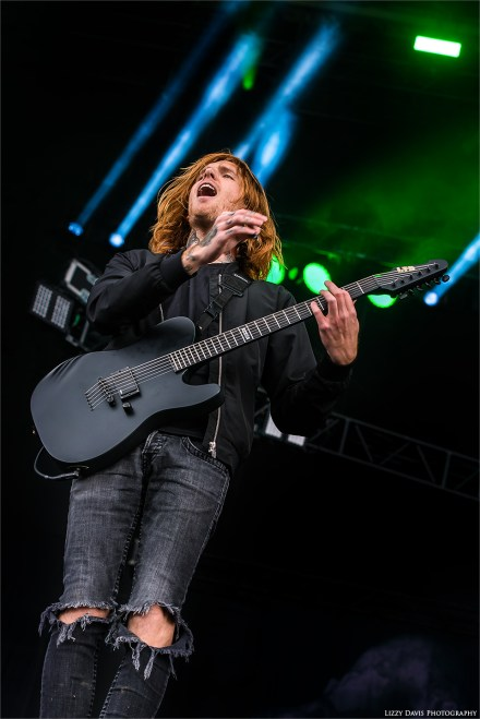 Alan Ashby, Of Mice & Men guitarist at Carolina Rebellion. ©Lizzy Davis Photography