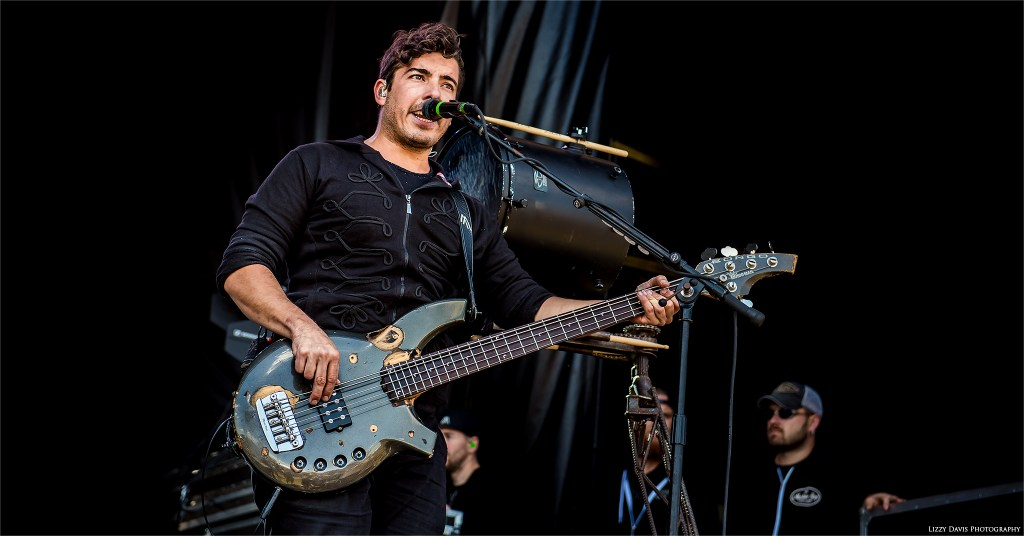 Daniel Oliver, Nothing More bassist at Carolina Rebellion music festival. ©Lizzy Davis Photography