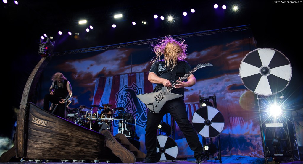 Amon Amarth guitarist Olavi Mikkonen at Rock on the Range.