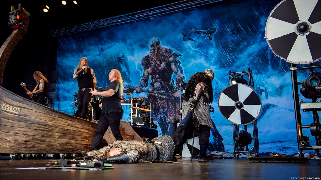 The slain is dragged from the stage.