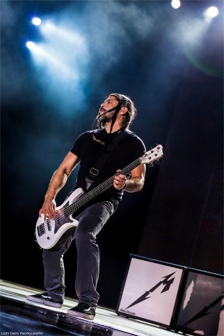 Bassist Rob Trujillo. Metallica photos by ©Lizzy Davis Photography.