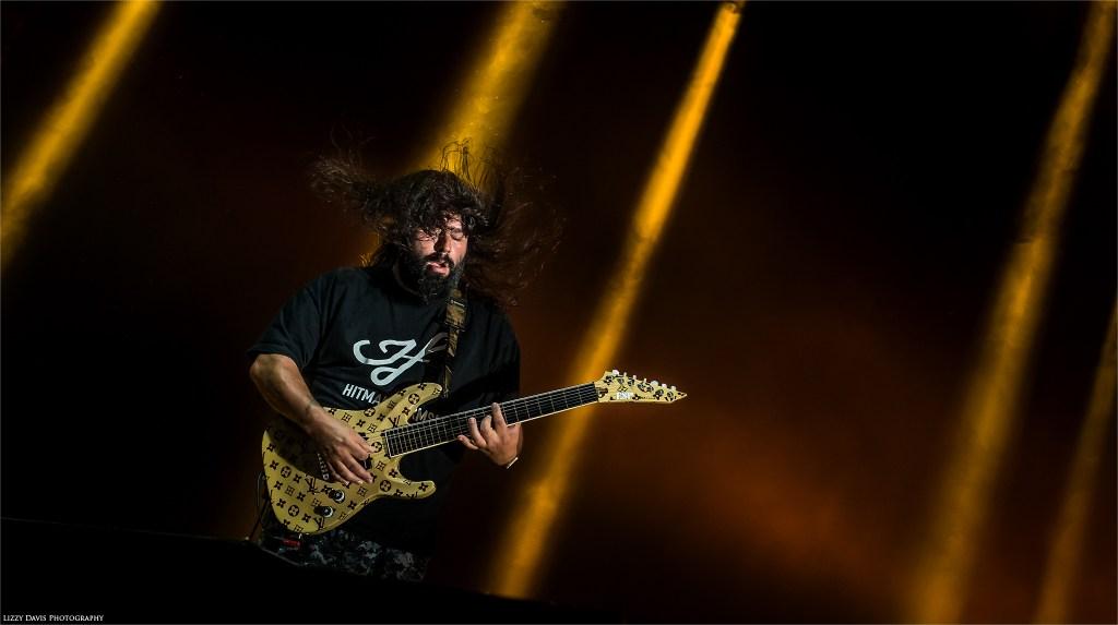 Deftones guitarist Stephen Carpenter live in Tampa. ©Lizzy Davis Photography