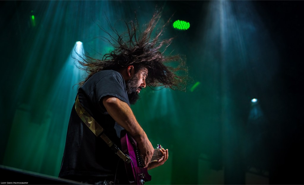 Stephen Carpenter, guitarist of Deftones. Concert photos by ©Lizzy Davis Photography.