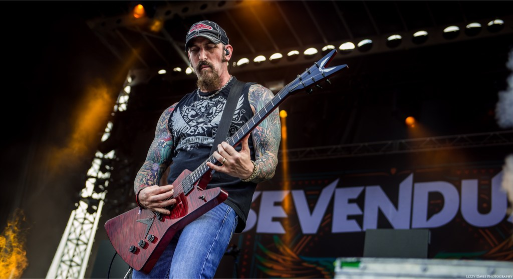 Sevendust performing at Welcome to Rockville 2016. John Connolly photo by ©Lizzy Davis Photography.