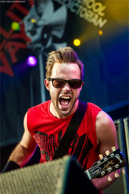 Guitarist Keith Wallen playing live with Adelitas Way on Rockstar Uproar 2012.