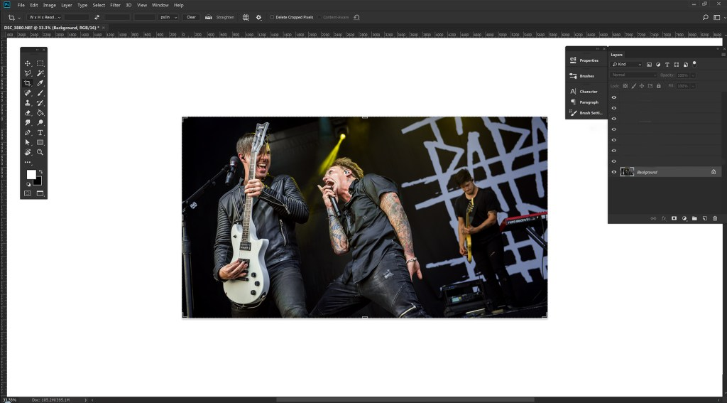How to Edit Concert Photos - Mic Stand Removal.