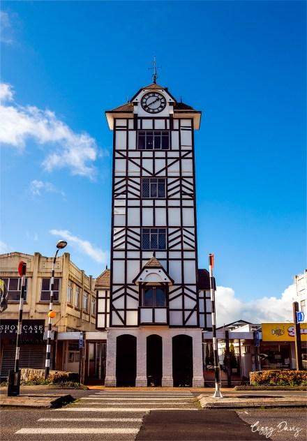 Stratford Clock Tower in New Zealand. | Travel photos by Lizzy Davis.