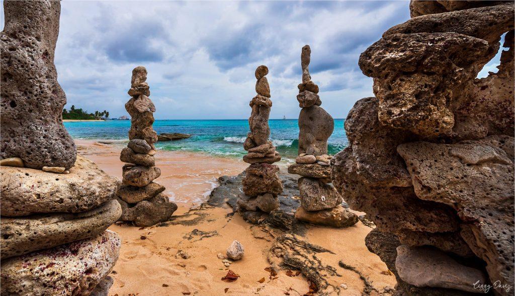 "The ""Stonehenge"" of Barbados at Paradise Beach."