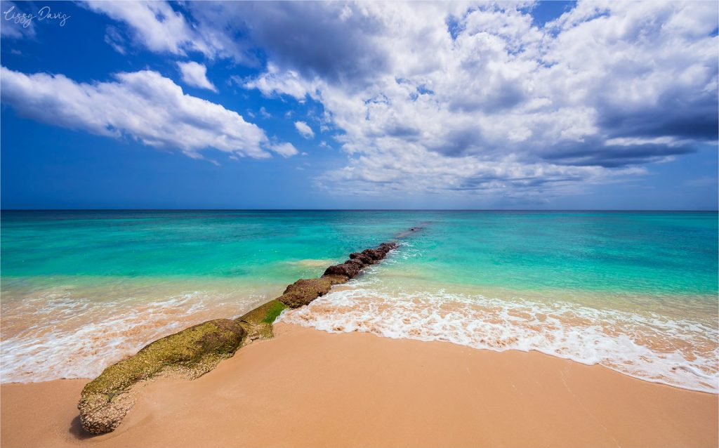 Overlooking the Caribbean Sea from the west coast of Barbados.