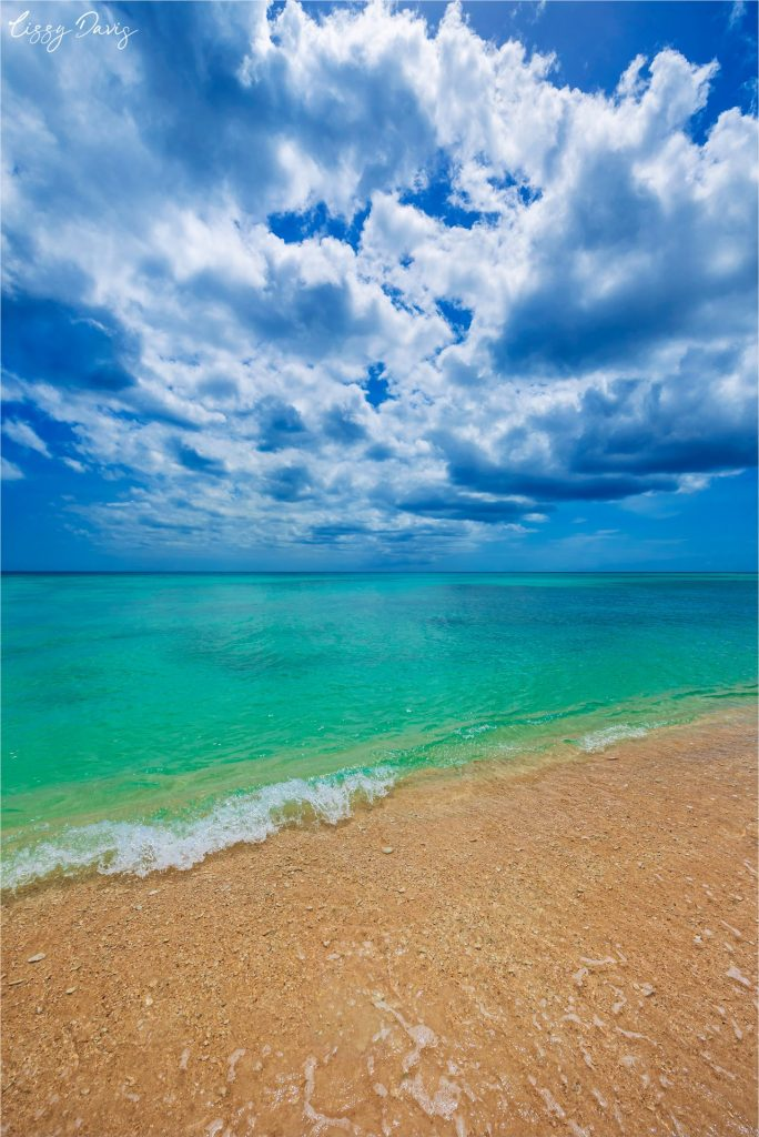 Clear turquoise waters in tropical paradise Barbados.