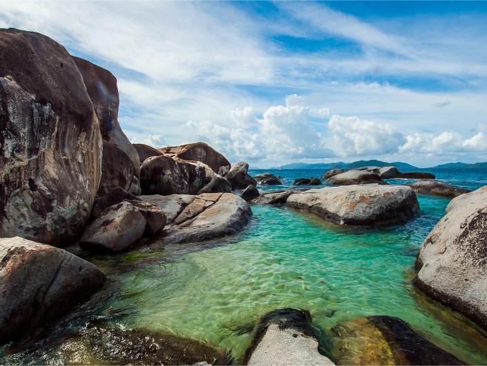 The stunning baths of Virgin Gorda, British Virgin Islands.