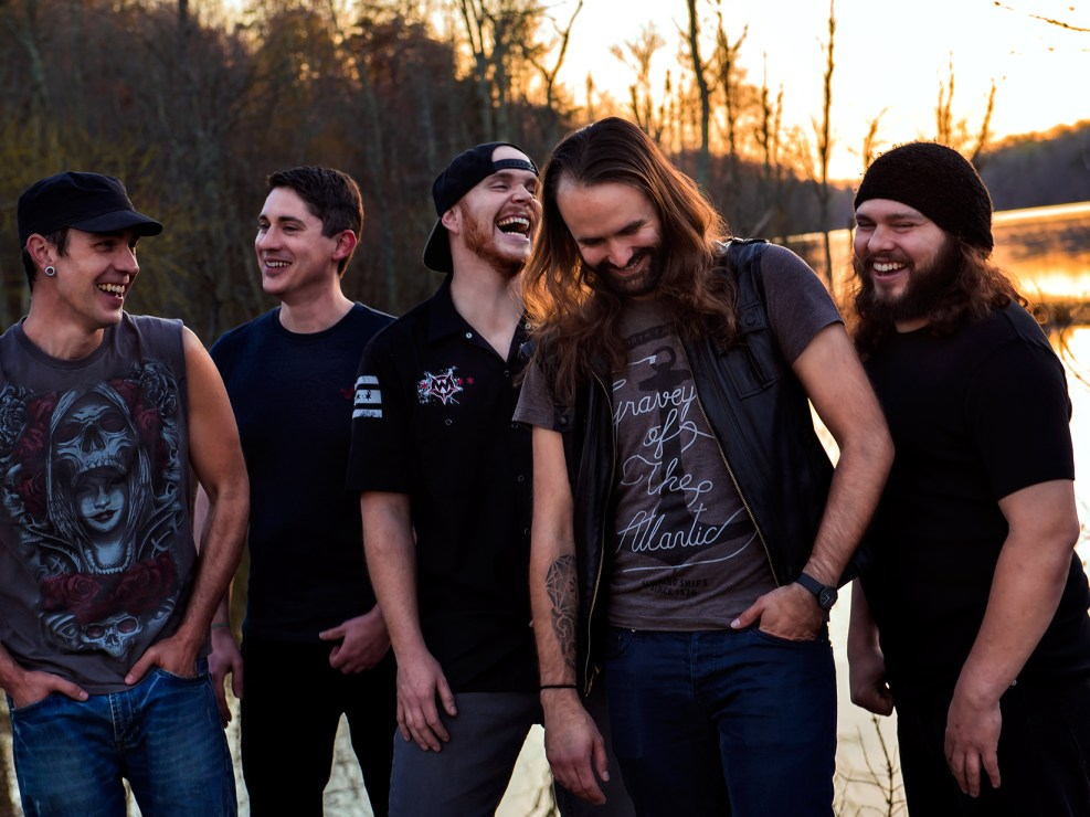 Portrait of Greensboro, North Carolina based rock band Convicted Fate.