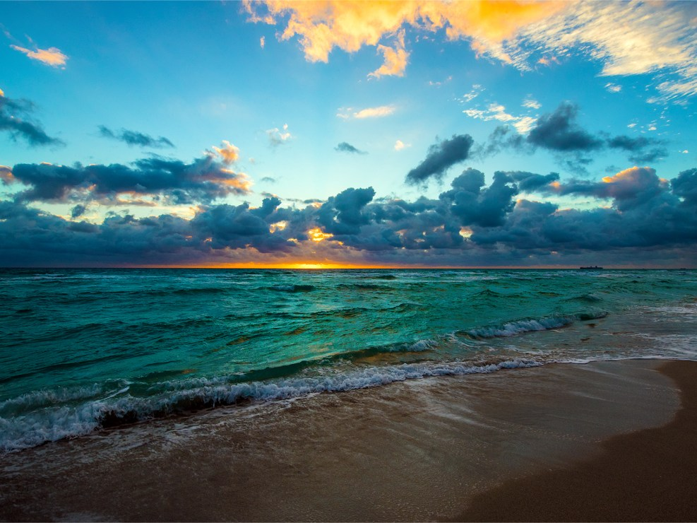 Stunning photo of sunrise over Miami Beach, Florida by Lizzy Davis photography.