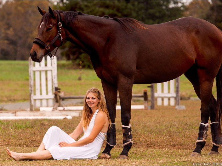 Elegant portrait of a girl and her horse.