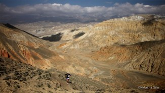 running upwards at about 4200m in Mustang, May 2013