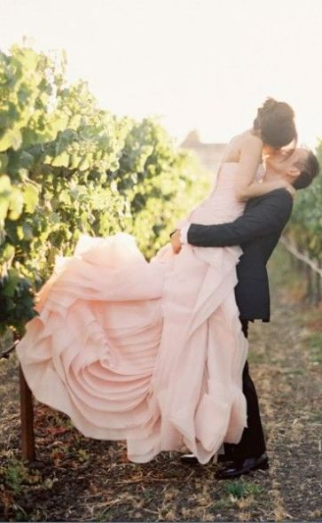 rose quartz wedding dress