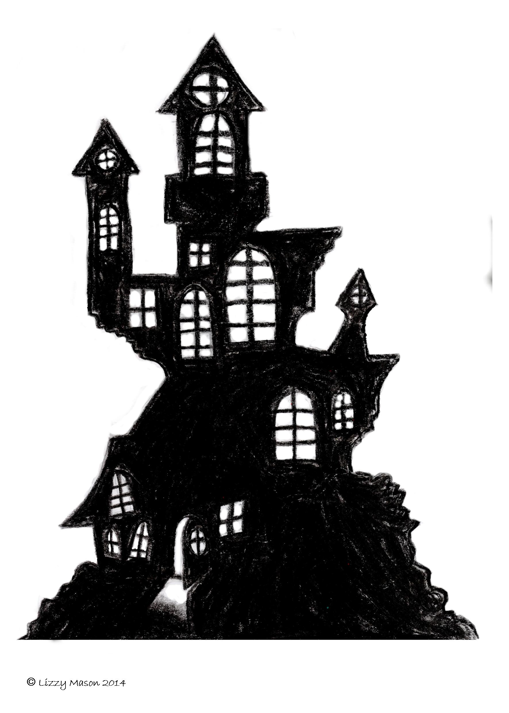 Haunted House Printable Images From A4 A0