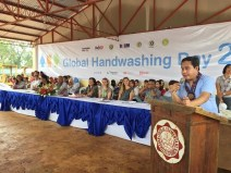 Secretary Magno (Department of Education, ARMM) encouraged the school community to practice hygiene habits