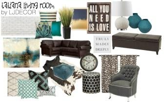 """Tatiana"" Living Room-Design Board"