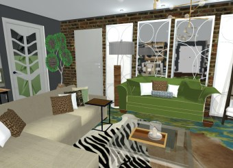 Living Room/Dining Room eDesign
