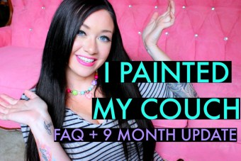 I Painted My Couch FAQ & Update 9 Months Later…
