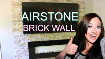 DIY AirStone Veneer Brick Accent Wall