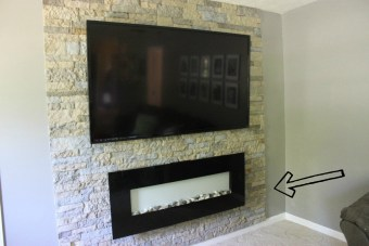 How I Hid my Cords on my Fireplace/Accent Wall
