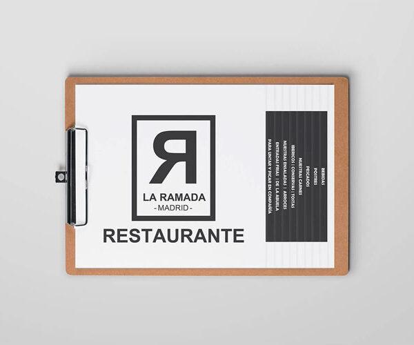 Impresión y diseño de cartas restaurante Madrid
