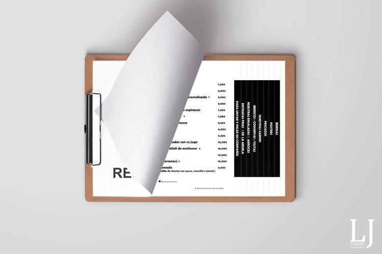 Cartas restaurante impresas