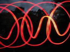 long exposure -movement with bike light