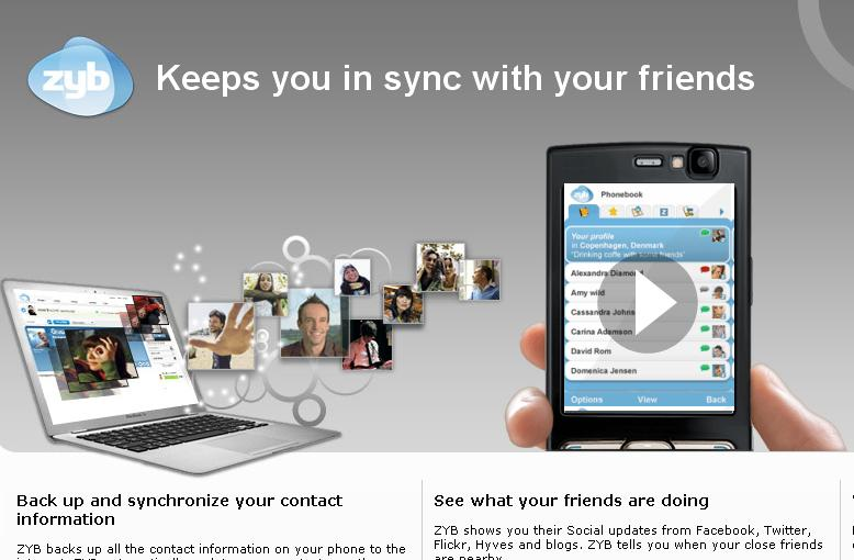 Zyb contact sync