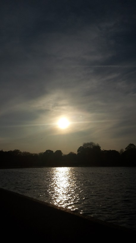 Kensington Gardens sunset