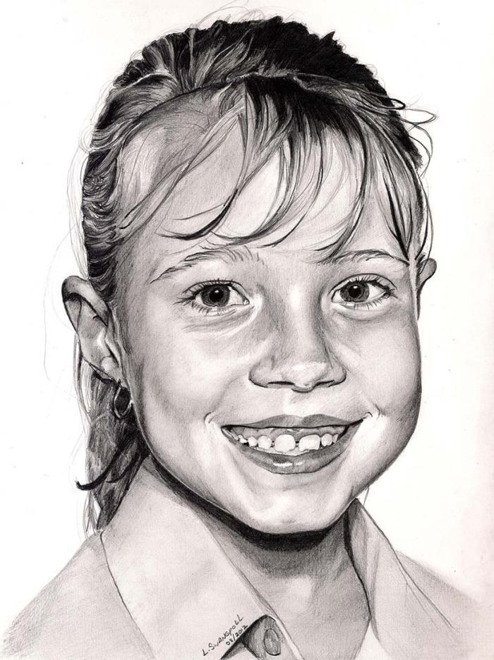 Girl Pencil Sketch
