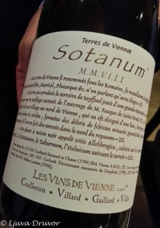 Sotanum 2008, Les Vins de Vienne
