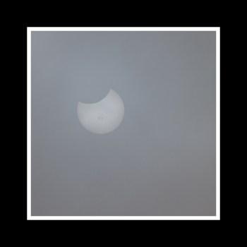 Oct 23, 2014 Partial Solar Eclipse through Fog