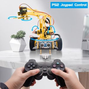 Mechanical Arm Robot Car Learning Starter Kit W/PS2 Contoller for Arduino Robot/Support Android &IOS